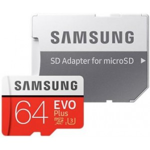 Карта памяти Samsung microSDXC EVO Plus 64Гб