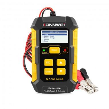 Тестер АКБ 12В, зарядное устройство Konnwei KW510, арт. 1303