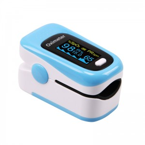 Портативный Bluetooth пульсоксиметр ARSTN OLED M170B синий с чехлом арт. 1060
