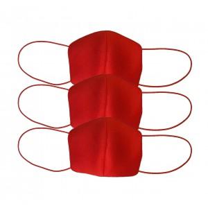 Три многоразовых защитных маски для лица, неопрен, красные арт. 1074