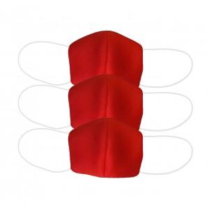 Три многоразовых маски для лица, неопрен, красные арт. 1074