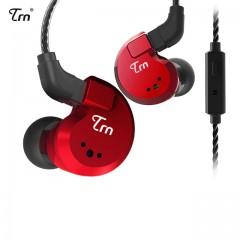 Гибридные наушники TRN V80 красные с микрофоном, арт. 761