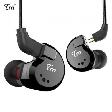 Гибридные наушники TRN V80 черные с микрофоном, арт. 744
