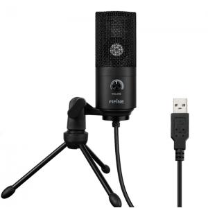 Конденсаторный студийный микрофон FIFINE K669B черный, арт. 1121