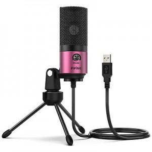 Конденсаторный студийный микрофон FIFINE K669 розовый, арт. 1122
