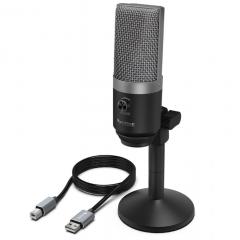 Студийный USB-микрофон FIFINE K670 серебристый арт. 1120