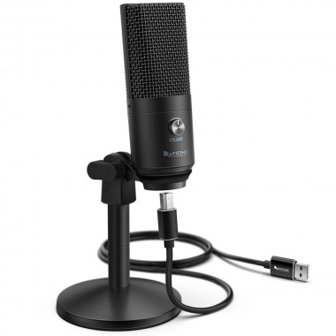 Конденсаторный студийный USB-микрофон FIFINE K670 черный, арт. 1119