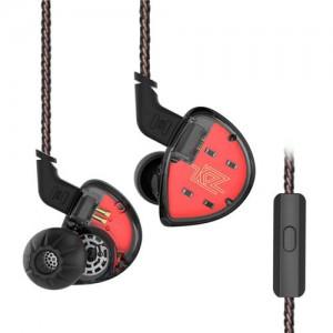 Гибридные наушники KZ ES4 с микрофоном черные, арт. 742