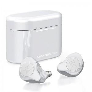 Гибридные TWS наушники KZ S2, Bluetooth 5.0 белые, арт. 1390