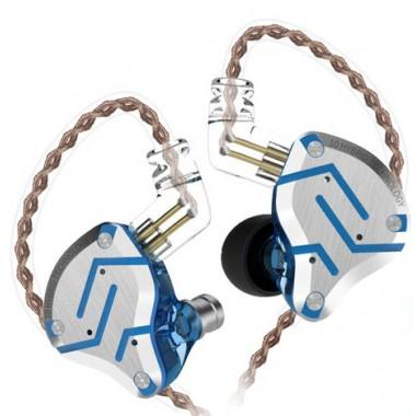 Гибридные наушники KZ ZS10 pro Glare blue без микрофона, арт. 1324