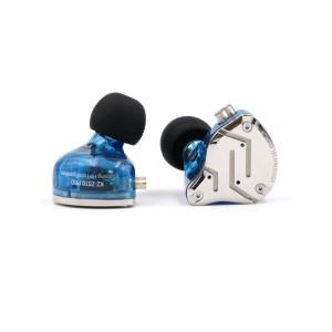 Арматурные гибридные наушники KZ ZS10 pro синие с микрофоном арт. 797