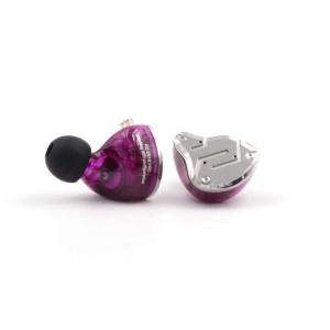 Арматурные гибридные наушники KZ ZS10 pro фиолетовые с микрофоном арт. 798