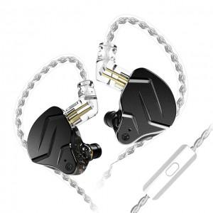 Гибридные наушники KZ ZSN Pro X черные с микрофоном, арт. 1278