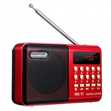 Переносной радиоприемник KK-11 красный арт. 889