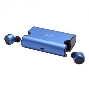 Полностью беспроводные bluetooth-наушники TWS X2T с микрофоном синие, арт. 637
