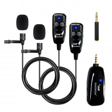 Комплект из двух микрофонов и одного приемника XIAOKOA N81-UHF, арт. 1204