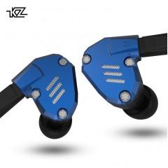 Гибридные наушники KZ ZS7 с микрофоном, голубые, арт. 827